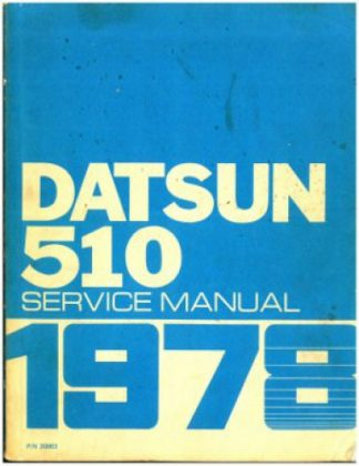 Used 1978 Datsun 510 Model A10 Series Service Manual