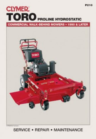 Toro Proline Hydrostatic Commercial Walk-Behind Mower Workshop Manual