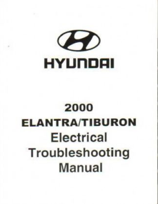 2000 Hyundai Elantra and Tiburon Shop Manual