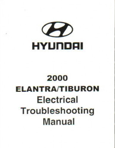2000 hyundai elantra and tiburon shop manual. Black Bedroom Furniture Sets. Home Design Ideas