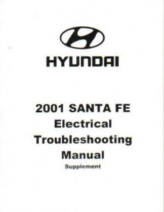 2001 Hyundai Santa Fe Electrical Troubleshooting Manual Supplement