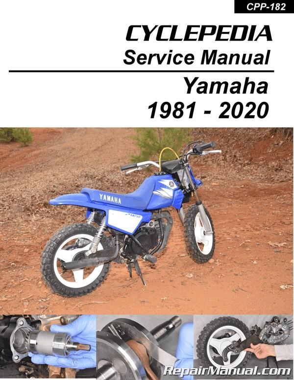 PW50 Yamaha Motorcycle Printed Service Manual Cyclepedia