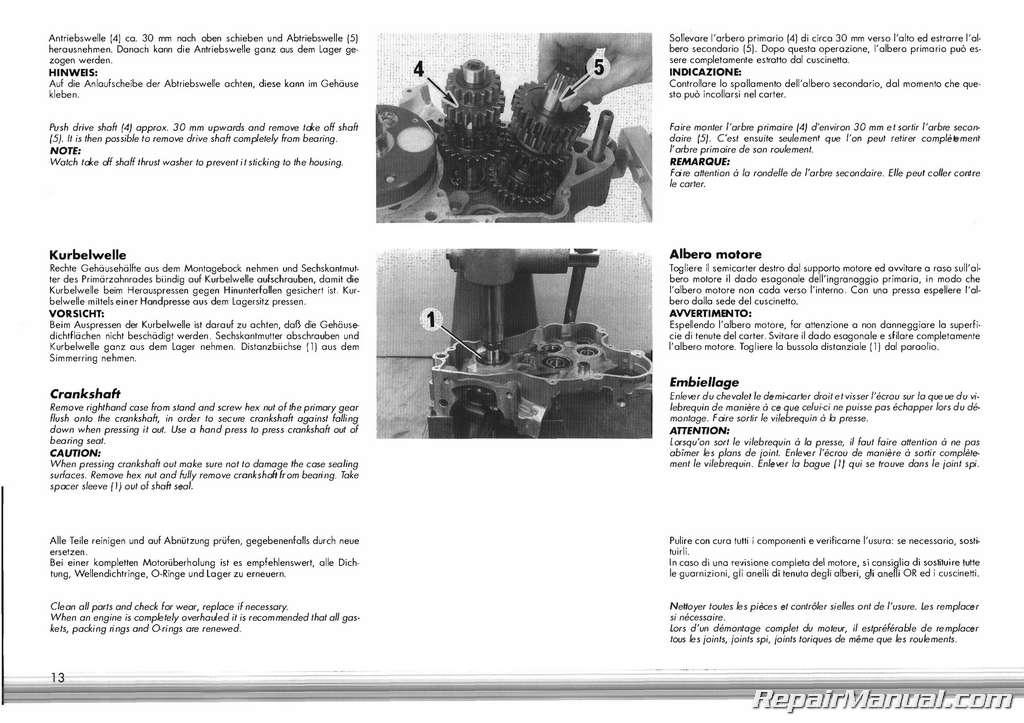 1991 1995 ktm 250 300 two stroke motorcycle engine service rh repairmanual com 1995 ktm 620 wiring diagram Tractor Battery Wiring Diagram