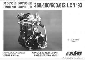 1996 1997 KTM 250 300 360 Motorcycle Engine Service Manual