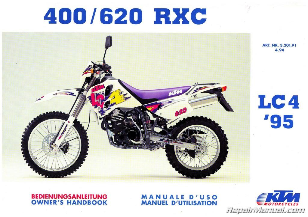 1995 ktm 400 620 rxc motorcycle owners handbook. Black Bedroom Furniture Sets. Home Design Ideas