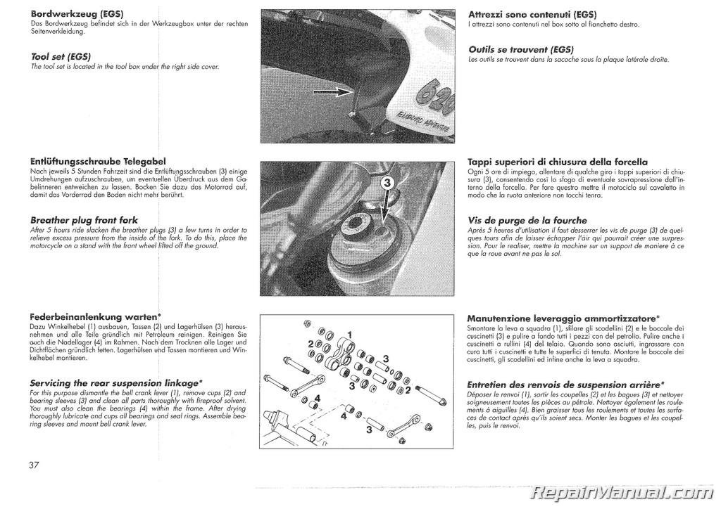 ktm 620 wiring diagram 1995 ktm 400 620 rxc motorcycle owners handbook   ebay