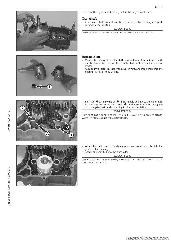 1999 2003 ktm 250 380 sx mxc exc 2 stroke engine manual rh repairmanual com ktm 250 exc manual pdf ktm 250 exc repair manual pdf