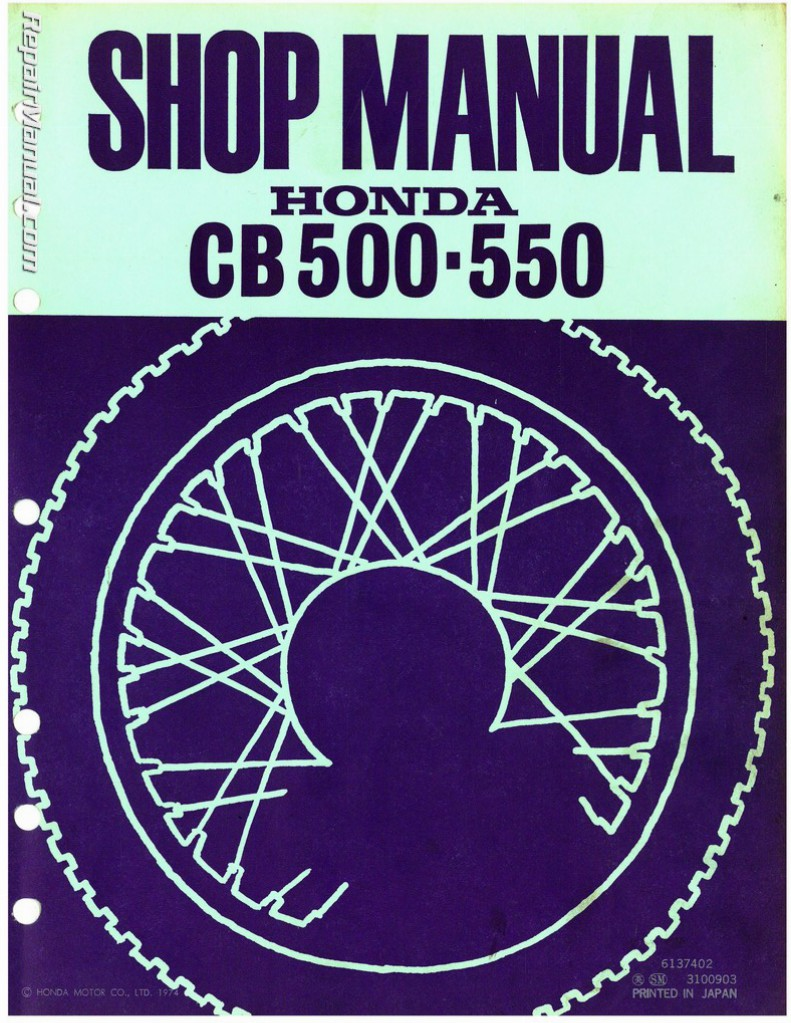 1971 1972 1973 honda cb500 1974 1977 cb550k service manual rh repairmanual com CB550 Top Speed 1976 Honda 550 Green