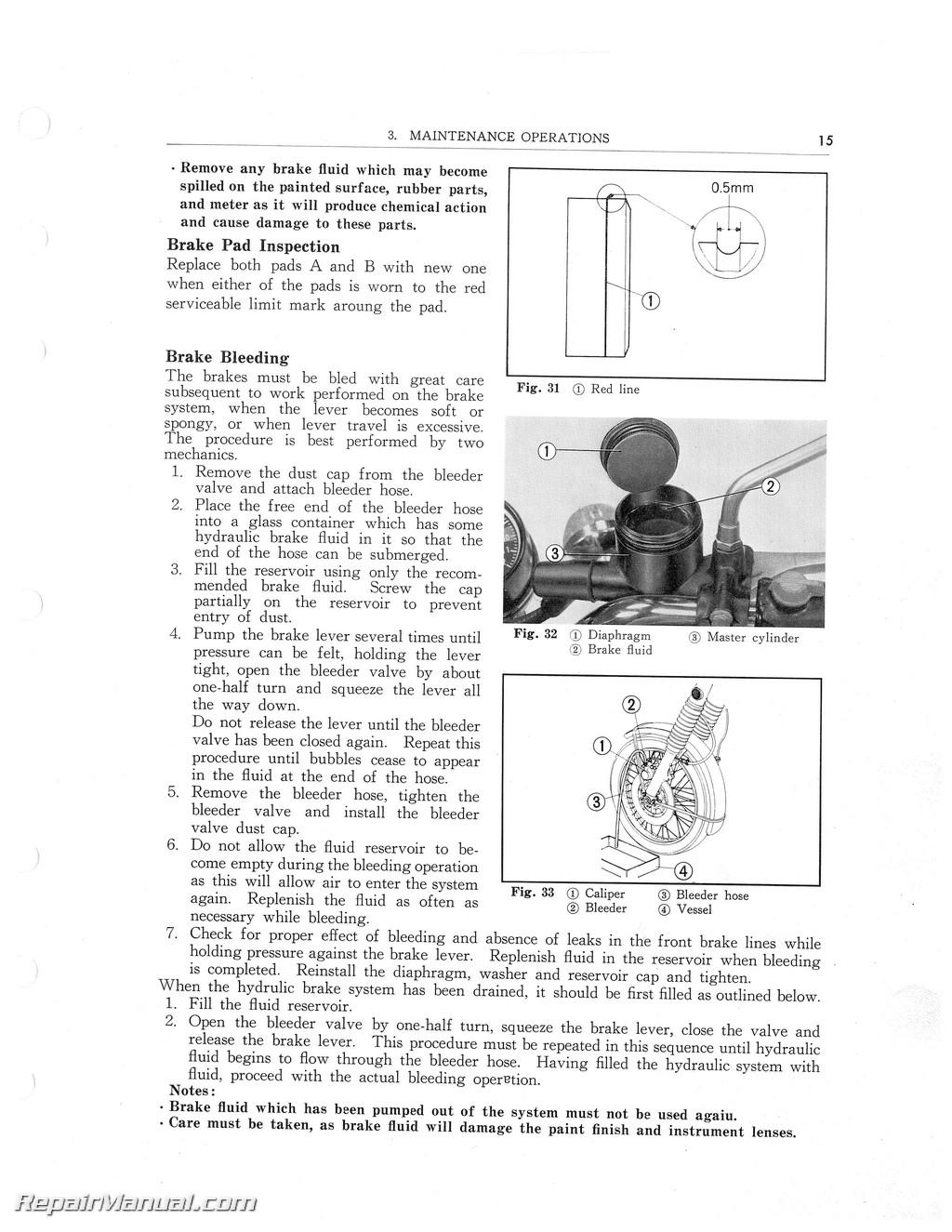 1971 1972 1973 honda cb500 1974 1977 cb550k service manual rh repairmanual com 1975 Honda CB550K CB550K Exhaust