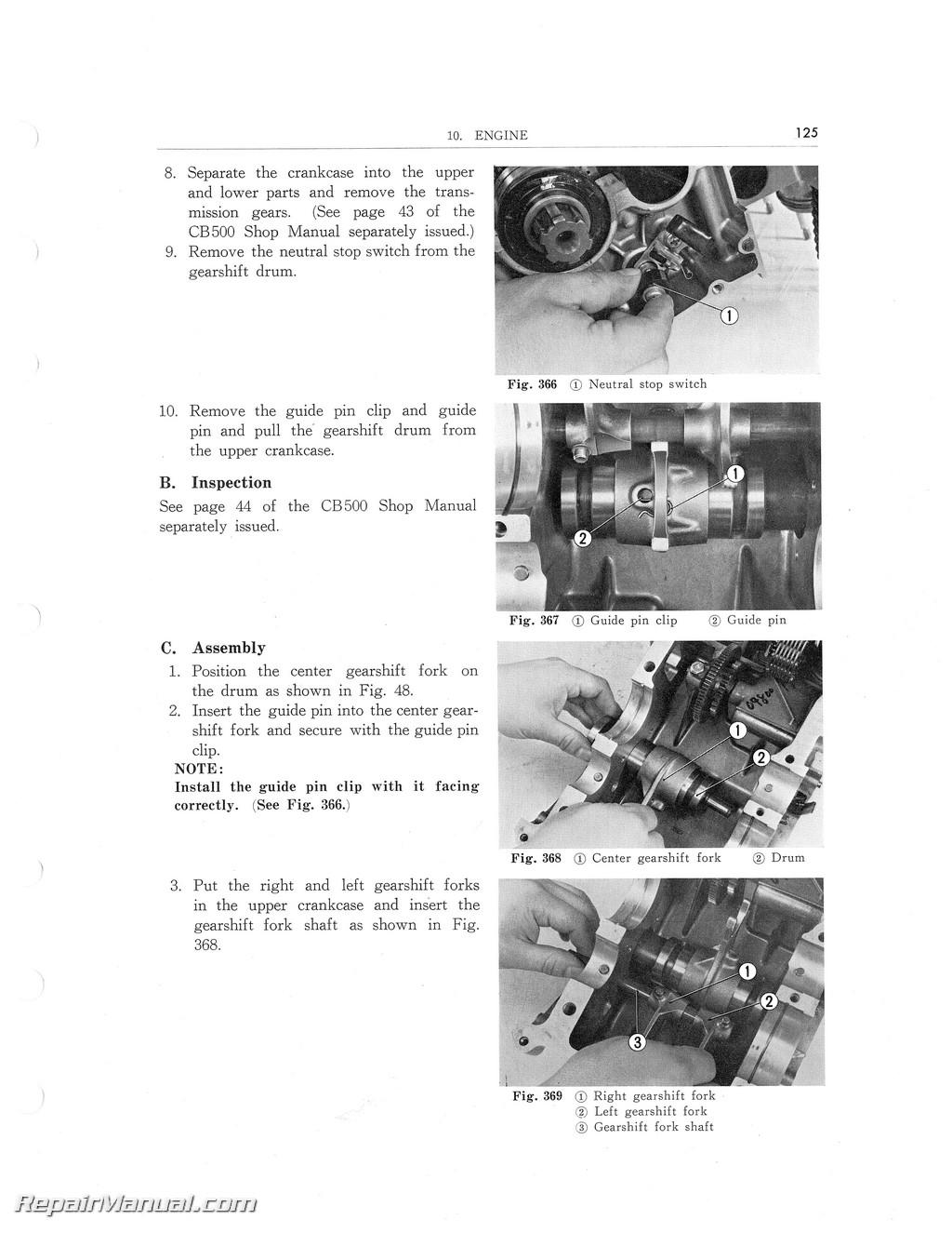 honda cb500 cb550 workshop service repair manual download