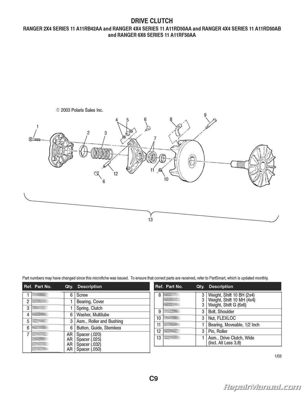 Parts Manual For Polaris 6x6 Ranger Rotax 447 Wiring Diagram 2 4 6 Series 11 Rh Repairmanual Com 500 Specifications