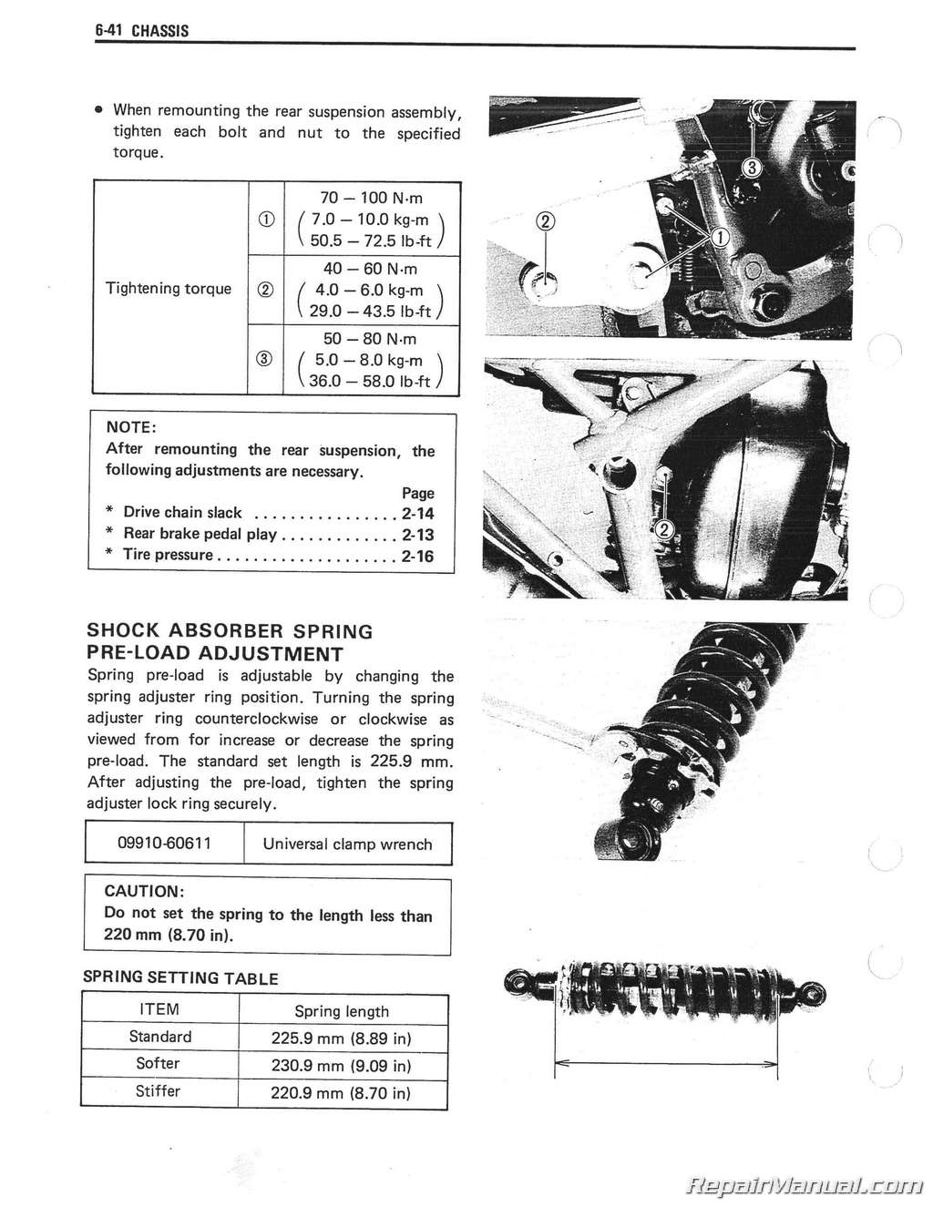 Sp 125 Wiring Diagram Suzuki Dr 500 1986 1987 1988 Dr125 Sp125 Motorcycle Service Manualsp 17