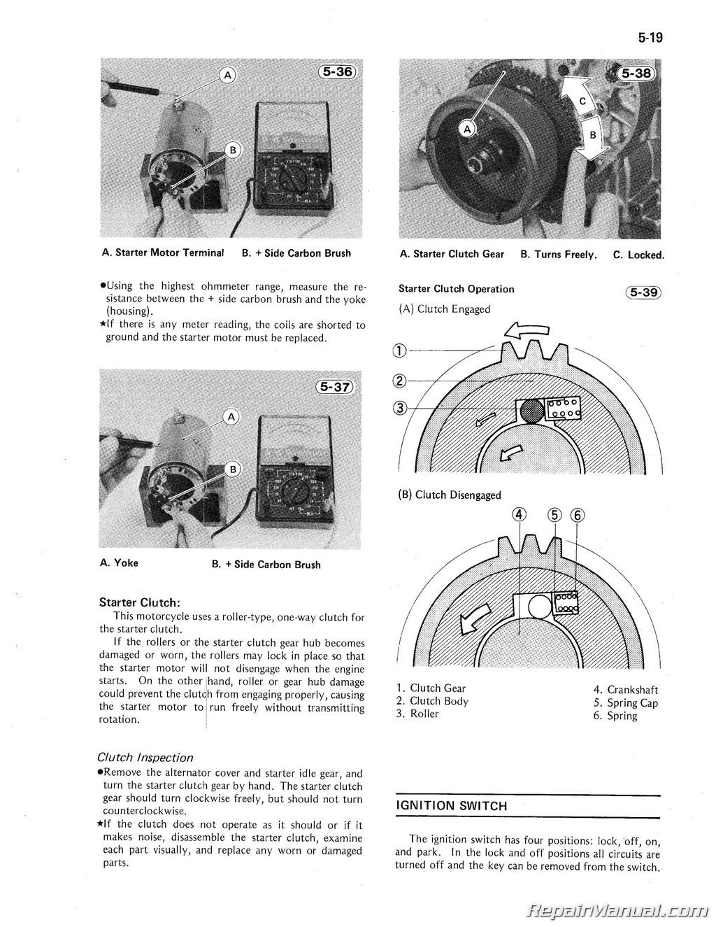 Kawasaki 1981-1983 KZ1100 1984-1985 ZN1100 Shaft Drive Motorcycle Service  Manual