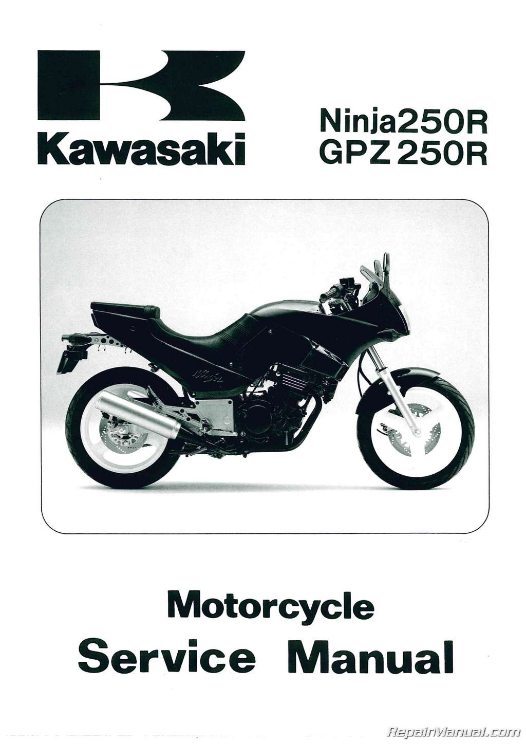 Official 1986 2007 Kawasaki Ex250 Ninja El250 Eliminator Factory Service Manual 99924 1066 01 on kawasaki lawn mower oil filters