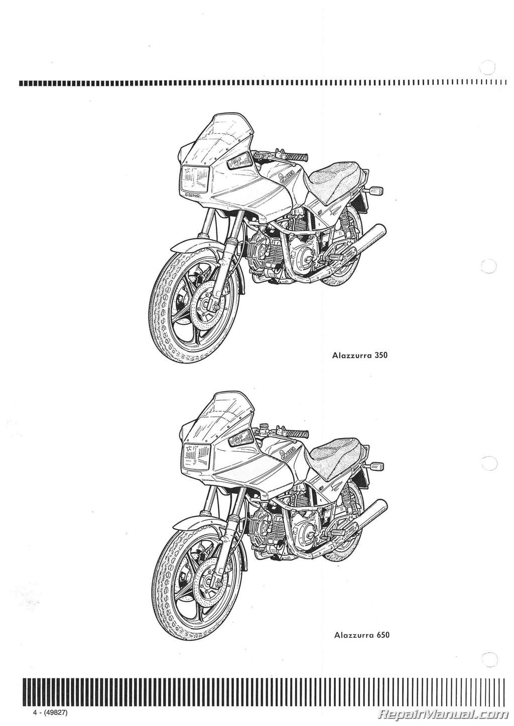 1985 1986 1987 Cagiva Alazzurra 350 650 Motorcycle Service Manual