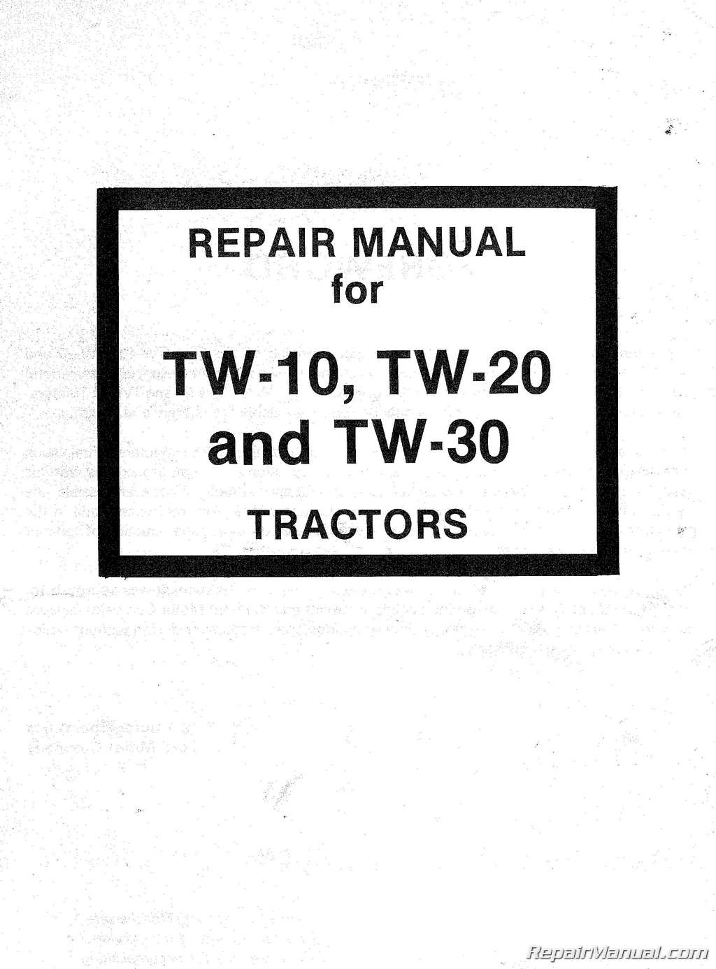 Ford Tw 10 20 30 Tractor Service Repair Manual 5 4 Instrument Lights Wiring
