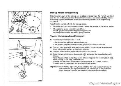 Deutz Allis Round Baler Manual GP 2.3 2.5 Operation Manual
