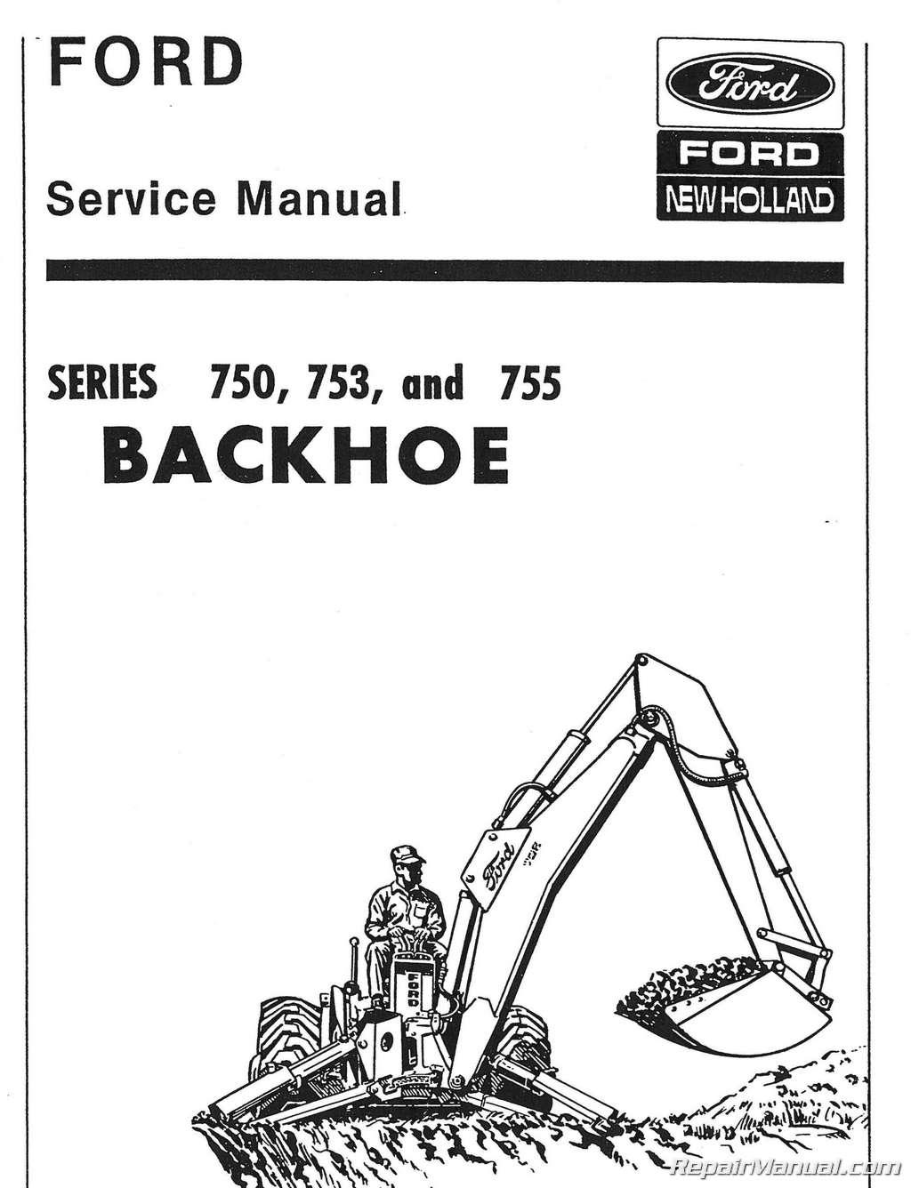 ford 750 753 755 backhoe service manual