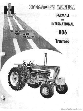 International Harvester Farmall 806 Operators Manual