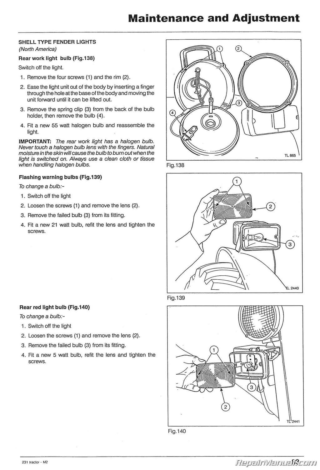 Massey ferguson 231 tractor operator instruction book.