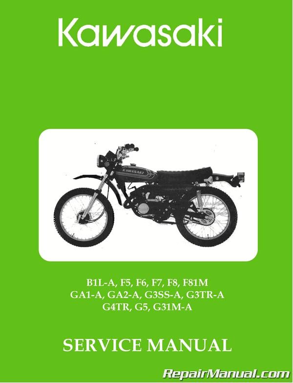 kawasaki b1l a, f5, f6, f7, f8, f81m, ga1 a, ga2 a, g3ss a, g3tr a, g4tr, g5, g31m a motorcycle service manual  kawasaki g3ss wiring diagram #13