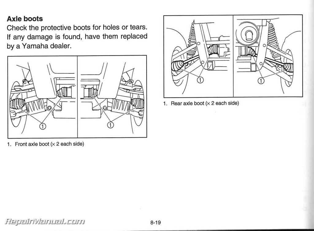 2005 Yamaha Yxr660fat Rhino 660 Auto 4x4 Owners Manual