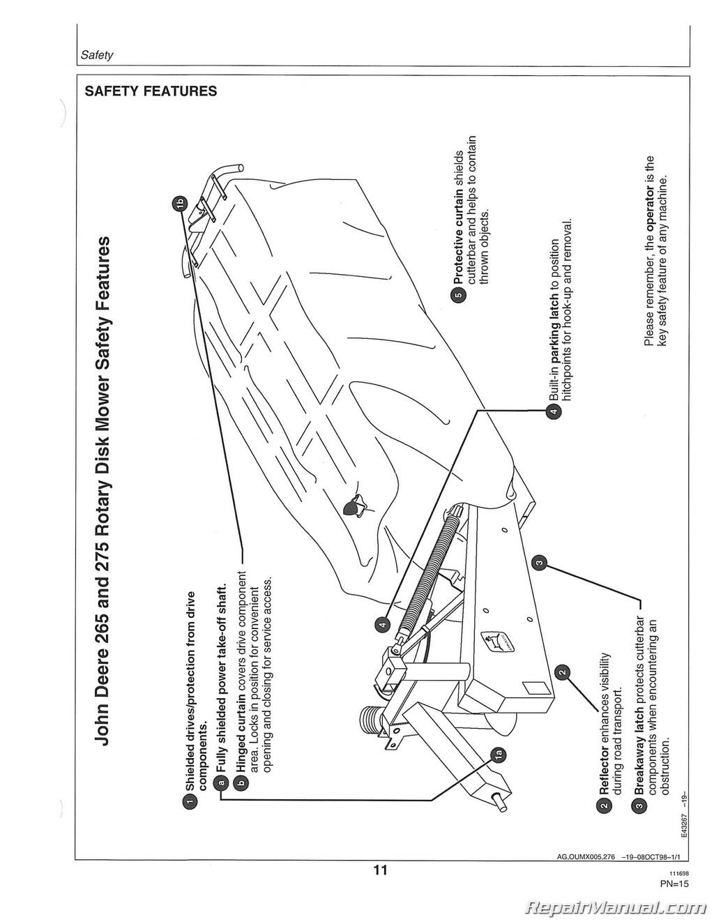 John Deere Disc Bine manual