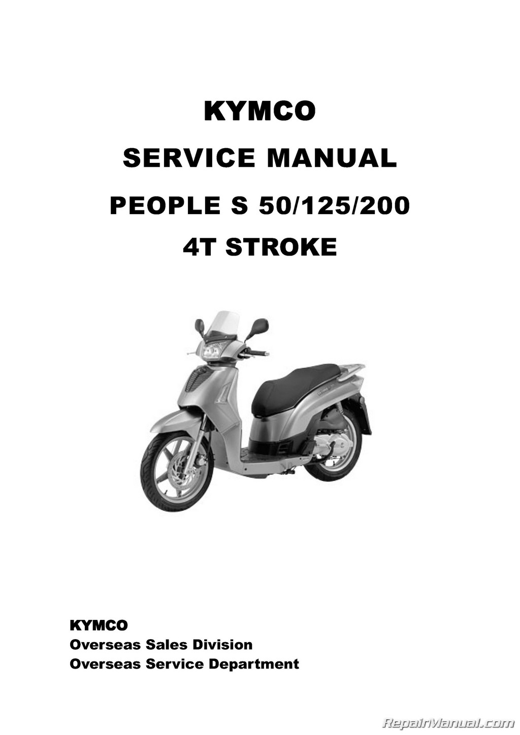 Kymco People S Scooter Service Manual Printed Cyclepedia on honda atv parts