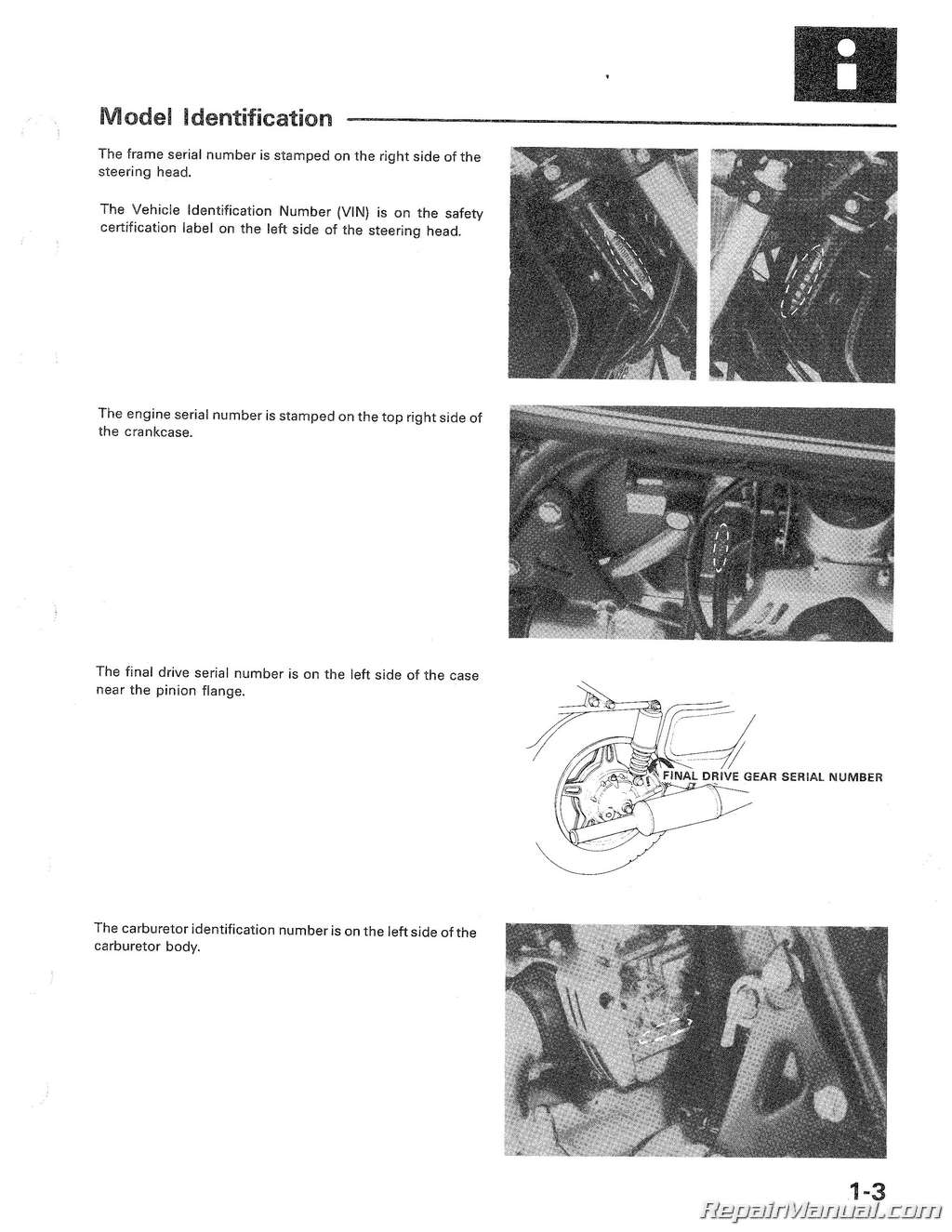 1980 1982 Honda Gl1100 Gold Wing Motorcycle Service Manual Wiring A 1981