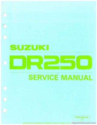 1982 - 1985 Suzuki DR250 SP250 Motorcycle Service Manual