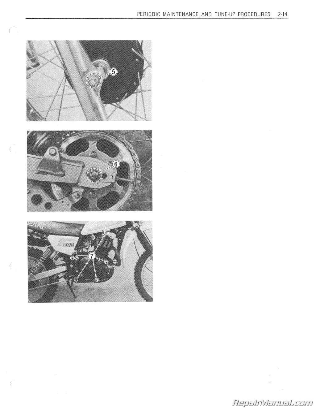 1981-1983 DR500 SP500 Suzuki Motorcycle Printed Service Manual