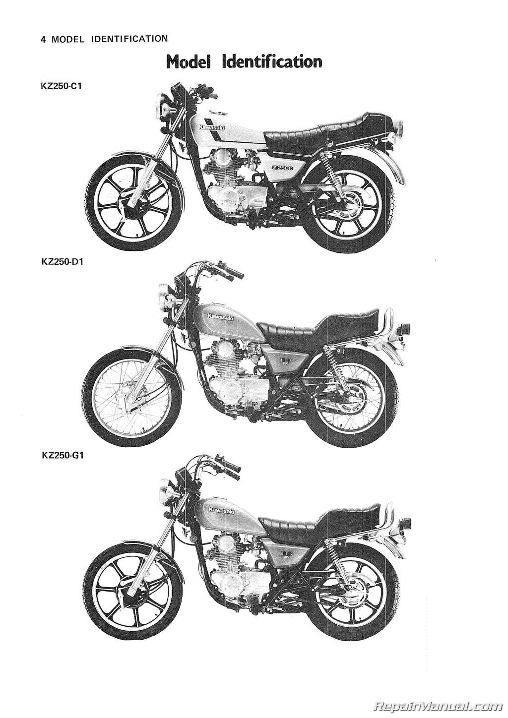 kawasaki z250 1979 1982 repair service manual pdf