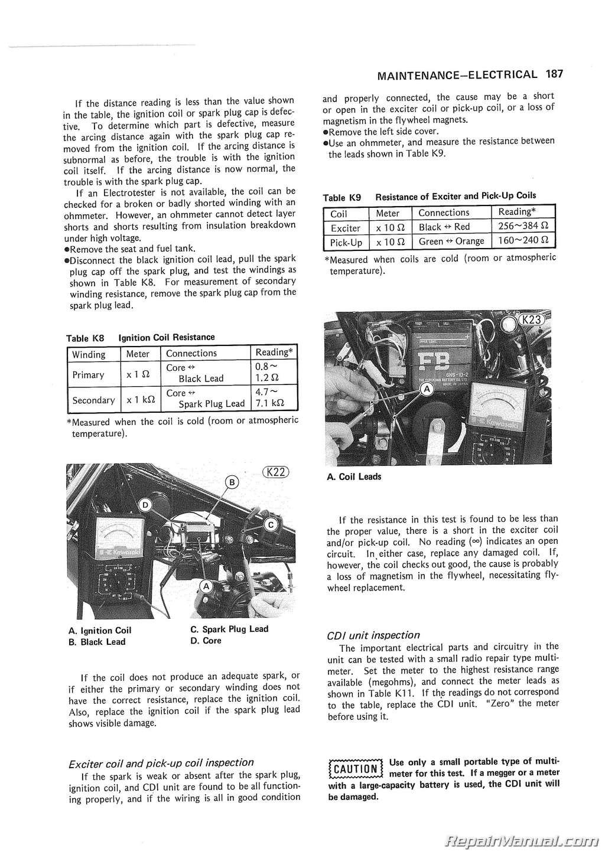 1980 1983 kawasaki kl250 motorcycle service manual rh repairmanual com kawasaki kl 250 workshop manual kawasaki klr 250 service manual