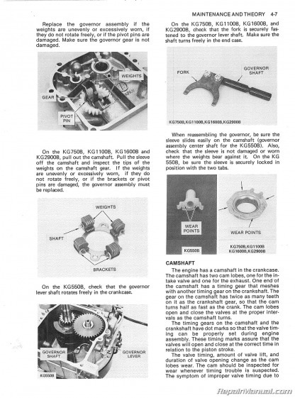 Kawasaki KG Portable Generator Service Manual