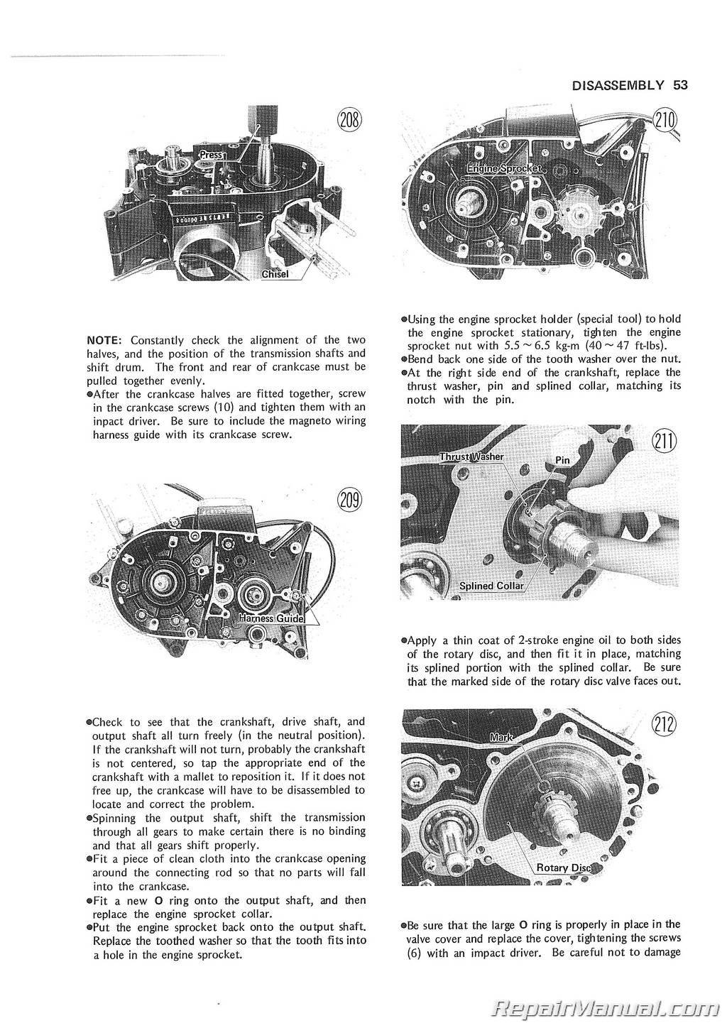 ke175 service manual 1976 kawasaki ke175b1 repair manuals online pages from r99997 719 01 3 page 1