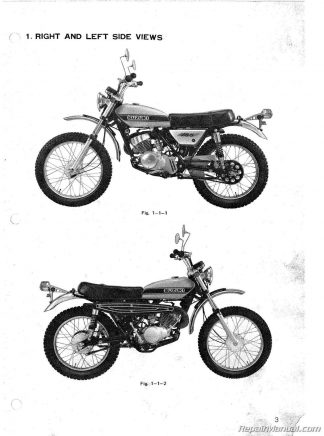 1971 – 1976 Suzuki TS185 Sierra Motorcycle Repair and Service Manual
