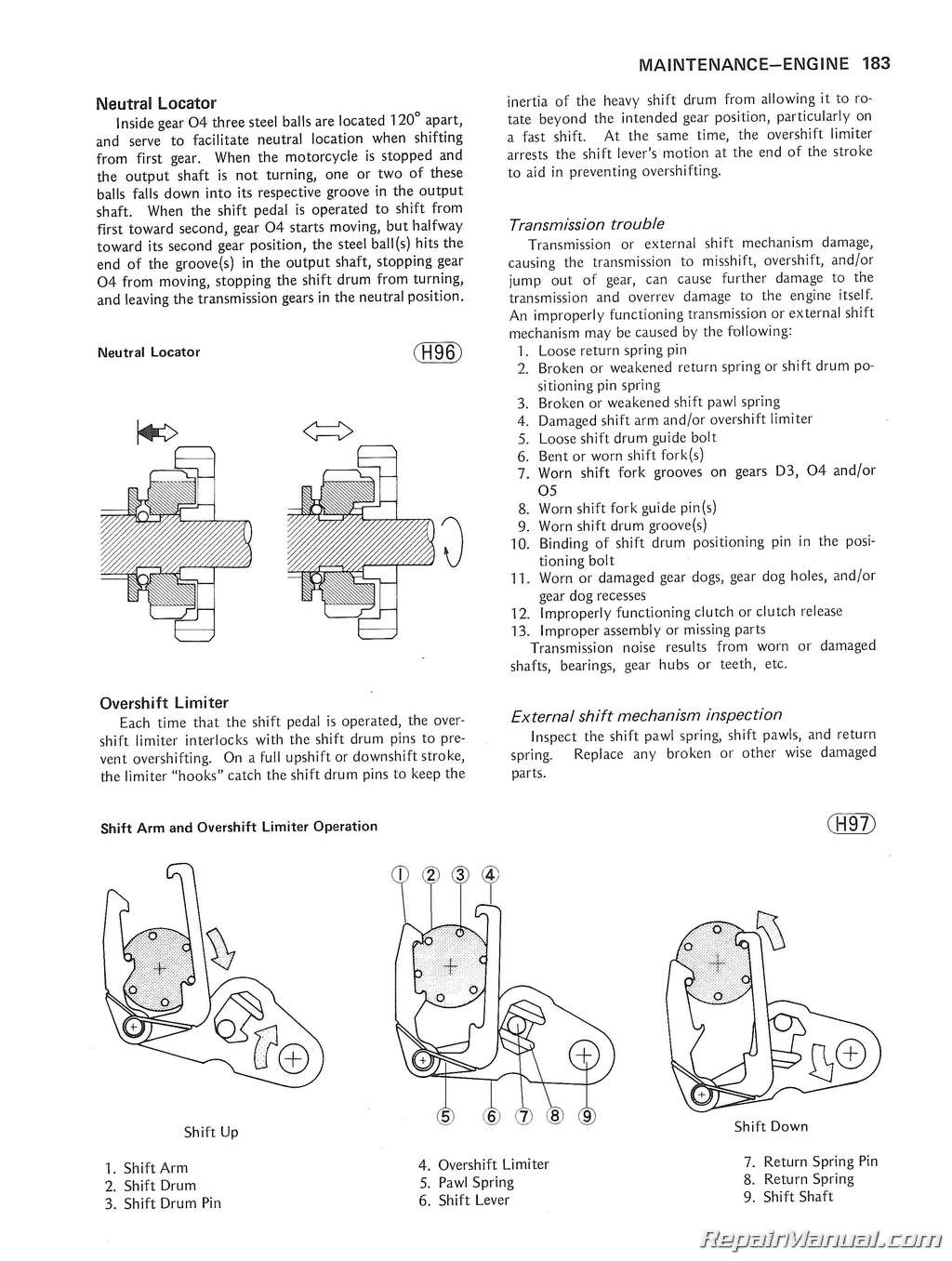 Kz750 Four Wiring Diagram Xs850 1980 1983 Kawasaki Motorcycle Service Manual