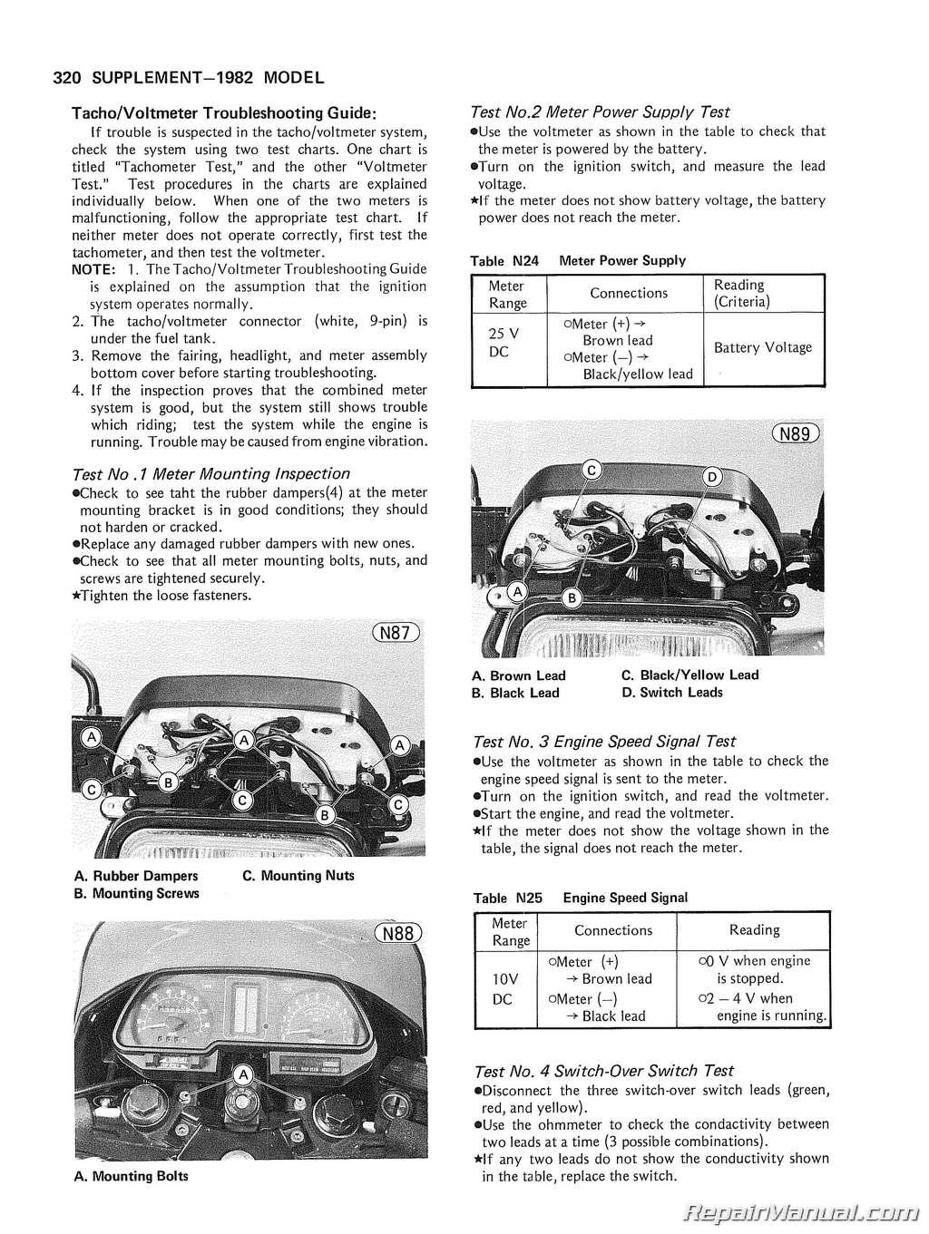 Kz750 Four Wiring Diagram 1983 Kawasaki Diagrams 1980 Motorcycle Service Manual Basic