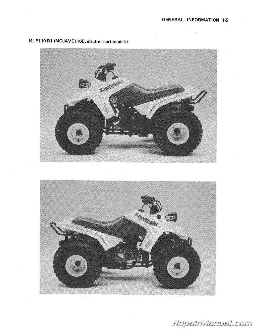 Kawasaki KLF40 Mojave Service Manual 40 ATV