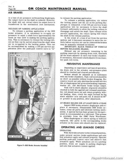 PD-4106 GM Bus Coach Supplement Service Maintenance Manual