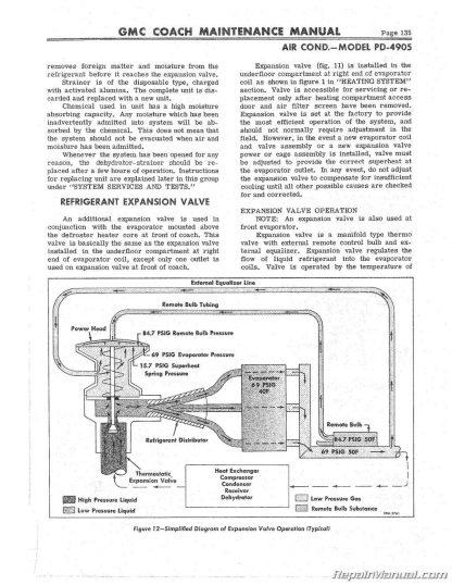 GMC Coach Bus Model PD-4108 PD-4905 Supplemental Manual