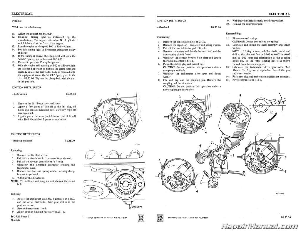 triumph spitfire mk iv workshop manual 1971