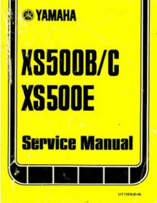 1975-1978 Yamaha XS500 Factory Service Manual