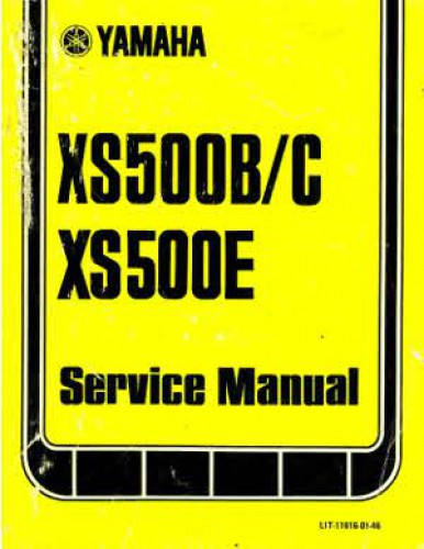 1975 1978 xs500b c xs500e yamaha motorcycle service manual rh repairmanual com yamaha 500 street bike 76 yamaha xs 500 wiring diagram #27