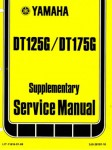 Official 1980 Yamaha DT175G DT125G Service Manual Supplement