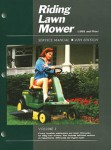 Riding Lawn Mower Service Manual 1991 and Prior