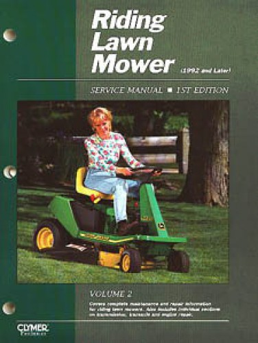 Riding Lawn Mower Service Manual Vol 2 1st Edition