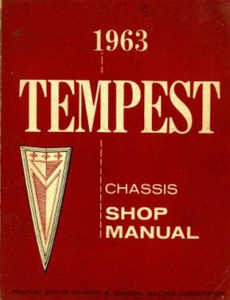 Pontiac Tempest Chassis Shop Manual 1963