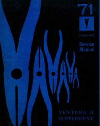 1971 Pontiac Service Manual Ventura II Supplement Used