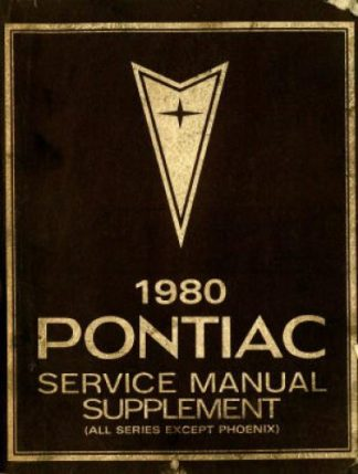 Pontiac Service Manual Supplement 1980